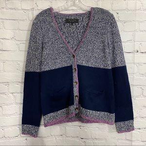 Rag & Bones Cardigan Sweater Size M  Navy/Gray